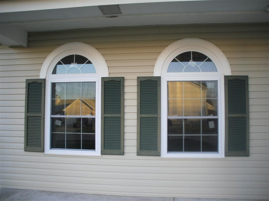 Windows webster exteriors inc for Arch top windows
