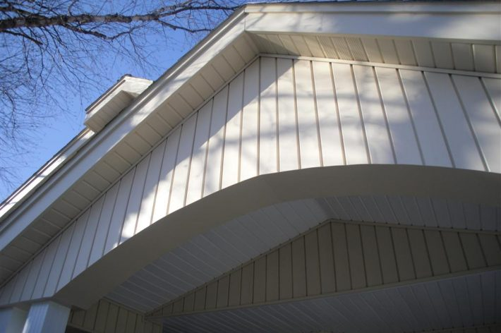 Siding, Soffit, fascia and porch ceiling trim work